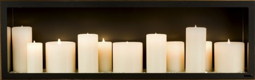 Candle Fireplace Insert fiamma sogno candle unit