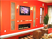 Linea Direct vent Fireplace in Private Residence, Reston VA.