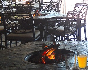 Misti-Fire® fire pit at Overtyme Grille