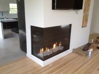Long Island NY Custom Corner Fireplace