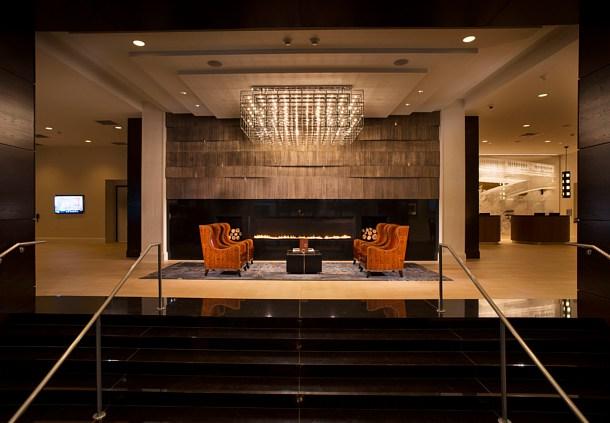 Fiamma Linea Marriott Milwaukee Fireplace, 10 ft