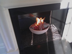 Greenwich CT see through with Firebowl